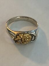 Flower Ring Size 8 Sterling Silver Keepsake Initial D