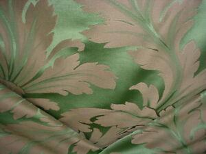2-1/4 Scalamandre TV 00012798 Narnito Emerald Faux Silk Damask Upholstery Fabric