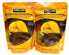 2 Kirkland Signatures Dark Chocolate Covered Mangoes 19.4 Oz Exp.JUl  2018