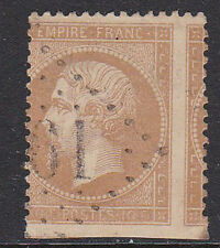FRANCE 1862. N°21 DOUBLE VARIETE ' PIQUAGE CHEVAL + ND EN BAS ' TB.  [A572]