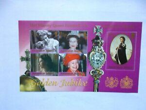 ASCENSION ISLAND: 2002 Golden Jubilee Sheet U/M  MS843