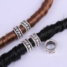 5pcs Hair Braid Dread Dreadlock Beads Clips Cuff Retro Pattern Design Ring Tubes