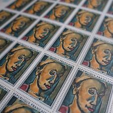 FEUILLE SHEET TIMBRE TABLEAU ROUAULT N°1673 x25 1971 NEUF ** LUXE MNH