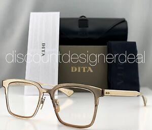 DITA POLYMATH Eyeglasses DTX101-51-02 Crystal Brown Gold Frame Clear Lens 51mm