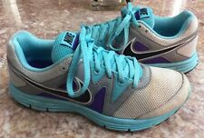 NIKE Lunarfly+ 3 Pure Platinum Gray Blue Purple Running Shoes Sz 6.5 #487751-004