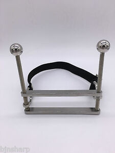 *** NEW STEEL TONGUE CLAMP MOUTH OPEN GAG VICE BONDAGE KINKY FREE SHIPPING ***