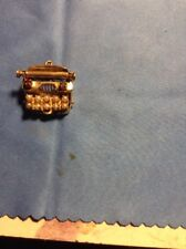 Vintage 14 Karat Yellow Gold 3-D Mechanical Typewriter Charm Heavy 7.6 G