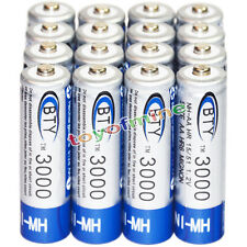 16x AA Rechargeable Battery Bulk Nickel Hydride NI-MH 3000mAh 1.2V BTY NEW