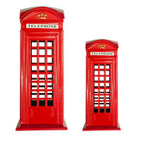 Telephone Booth Money Box Coin Piggy Bank London Souvenirs Toy Box for Kids