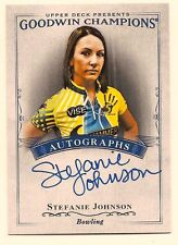 STEPHANIE JOHNSON 2016 UPPER DECK GOODWIN CHAMPIONS ON CARD AUTO
