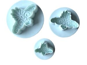 LACE DAMASK VINTAGE PLUNGER CUTTERS BIRTHDAY CAKE DECORATING TOOLS FONDANT