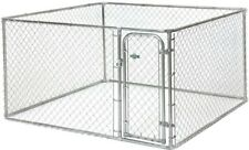 7.5 x 7.5 x 4 ft Chain Link Box Dog Kennel Outdoor Pet Playpen Panel Fence Cage