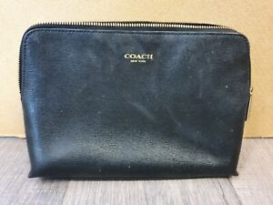 COACH NEW YORK Leather Cosmetic Bag