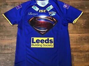 2013 Leeds Rhinos Superman Man of Steel Rugby League Shirt Medium Jersey