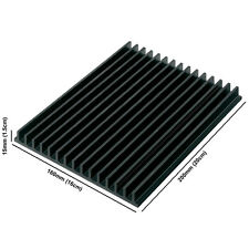 Large Aluminium Anodised Black LED Heatsink (160mm x 200mm x 15mm)