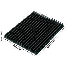 Aluminium Large Noir Anodisé LED dissipateur de chaleur (160mm x 200mm x 15 mm)