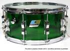 Vintage 1970's Ludwig 6.5x14 Vistalite Green Snare Drum
