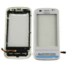 Nokia C6 C6-00 Touchscreen Digitizer Front Glas Lens with White Frame + Tools
