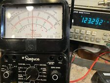 Simpson 260 7p Multimeter Amp New Leads Excellent Condition Completely Tested
