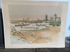 Lithographie Yves Brayer France French