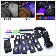 4pc Multi-Color LED Interior Footwell Underdash Neon Light Kit for Cars & Trucks