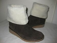 SISLEY Suede Wedge Winter Boots Women's Shoes Size 36 / 5.5 - 6  Made In ALBANIA