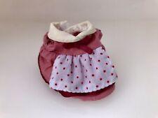 Sylvanian Families chocolate Rabbit Pink Spot Dress Clothing Calico Critter