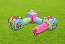 Kids 6pc Play Tent and Tunnel Pop up Playhouse Jungle Toy w/ Bag, FREE SHIP!!