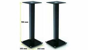 Universal BookShelf Speaker Stand in Black (sold in pairs - 2x units)