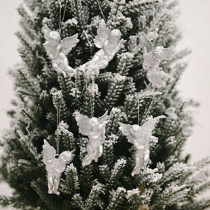Pack of 6 Gold Silver Angel Christmas Tree Xmas Hanging Pendant Decorations W