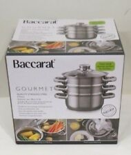 Baccarat Quality S/Steel 4 Piece 3 tier steamer 18cm (Brand New) Induction Safe