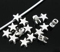 200 Antiksilber Stern Spacer Perlen Für Schmuck DIY 6x6mm Wholesale