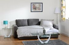 Dark Grey Fabric Corner Sofa Bed With Storage W234cm x D145cm x H84cm LARA