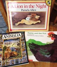 Animalia, Hattie And The Fox, A Lion In The Night, Base, Mem Fox,Softcover Books