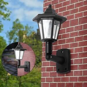 2X Outdoor Solar Powered Wall Lantern LED Lights Vintage Garden Landscape Lamp