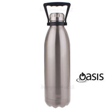 Oasis S/S Double Wall Insulated Drink Bottle Vacuum Flask 1.5L w Handle - Silver