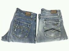 LOT of 2 Flypaper Regular Fit Boot Cut Mid Rise Men's Blue Jeans Sz 32 EUC