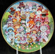Franklin Mint Holiday Cats Collector Plate Easter Purrade Great Condition
