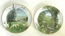 Franklin Porcelain Calendar Plates Peter Banett 1979 January's Lambing & May
