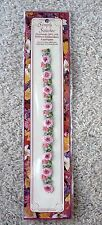 NIP Vtg Simple Stitches Handmade 100% Silk Ribbon Rose Strip Embroidery Applique