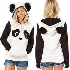 Lovely Women Panda Pocket Hoodie Sweatshirt Hooded Pullover Tops Blouse Outwear