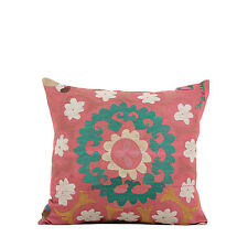 """17"""" x 18"""" Pillow Cover Suzani Pillow Cover Vintage FAST Shipment With UPS 09762"""