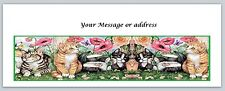 30 Personalized Return Address Labels Cats Buy 3 get 1 free (ct239)