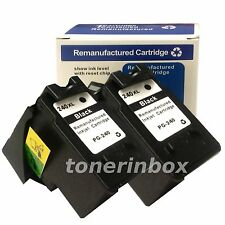 2pk PG-240XL PG240XL Black Ink Cartridges for Canon PIXMA MG MX Series