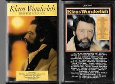 2 cassettes  KLAUS WUNDERLICH time for romance + self titled tape
