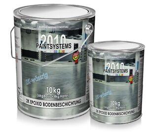 2K Epoxidharz Bodenbeschichtung Bodenfarbe Betonfarbe Garage