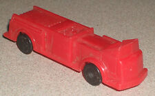 """Plastic Cereal Box Toy Red Firetruck with Open Cab 3"""" NICE"""