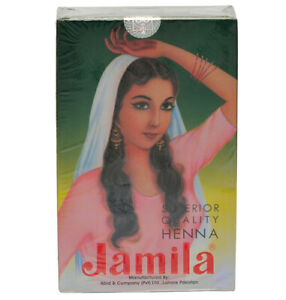 6 Pack x 2020 CROP Jamila Henna Powder Mehndi (BAQ) Body Art Quality & For Hair