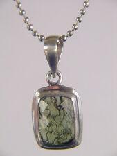 BUTW  Sterling Silver Faceted Czech Moldavite Meteorite Pendant 3060K