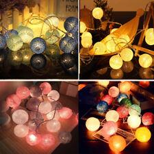 20 LED Globe Garland Cotton Ball String Fairy Lights Christmas decoration